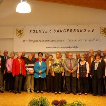 Jubilarenehrung 2014 des SSB im Gemeindehaus in Dorlar