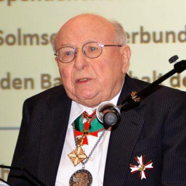 Wir trauern um Prof. Dr. Dr. h.c. Erwin Kuntz