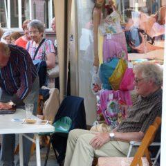 Willi Heß und Günther Neidull am Eisenmarkt